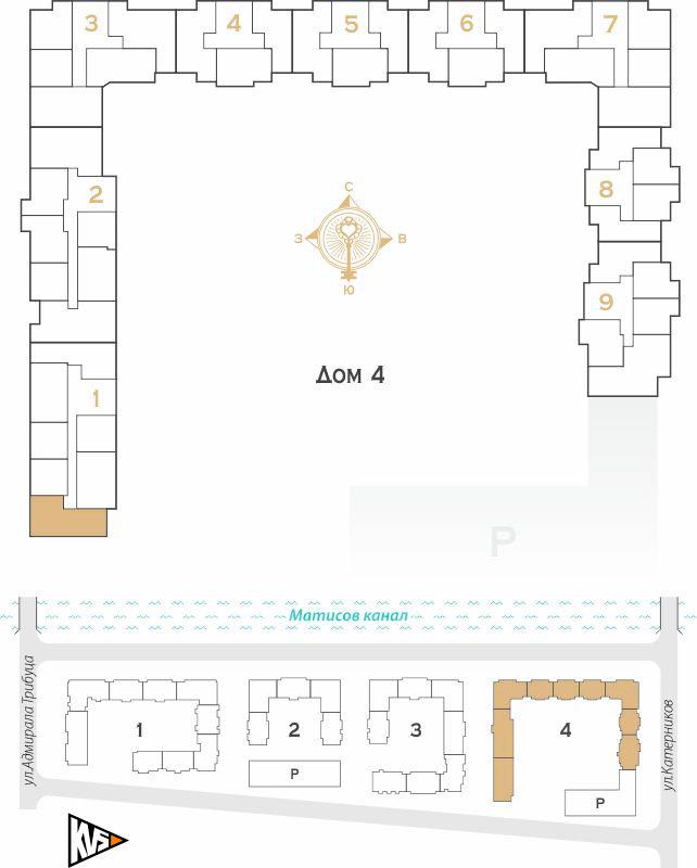Планировка Двухкомнатная квартира площадью 62.78 кв.м в ЖК «Жилой комплекс Новое  «Наутилус»»