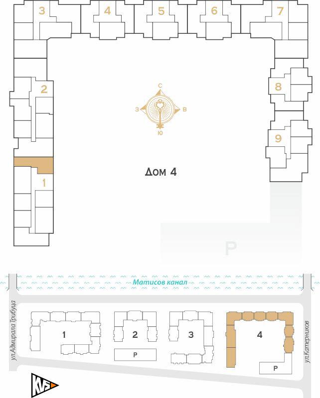 Планировка Двухкомнатная квартира площадью 57.93 кв.м в ЖК «Жилой комплекс Новое  «Наутилус»»